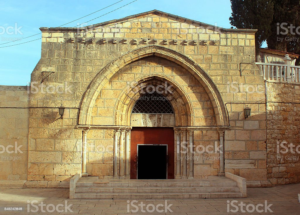 Entrance to Tomb of Virgin Mary stock photo