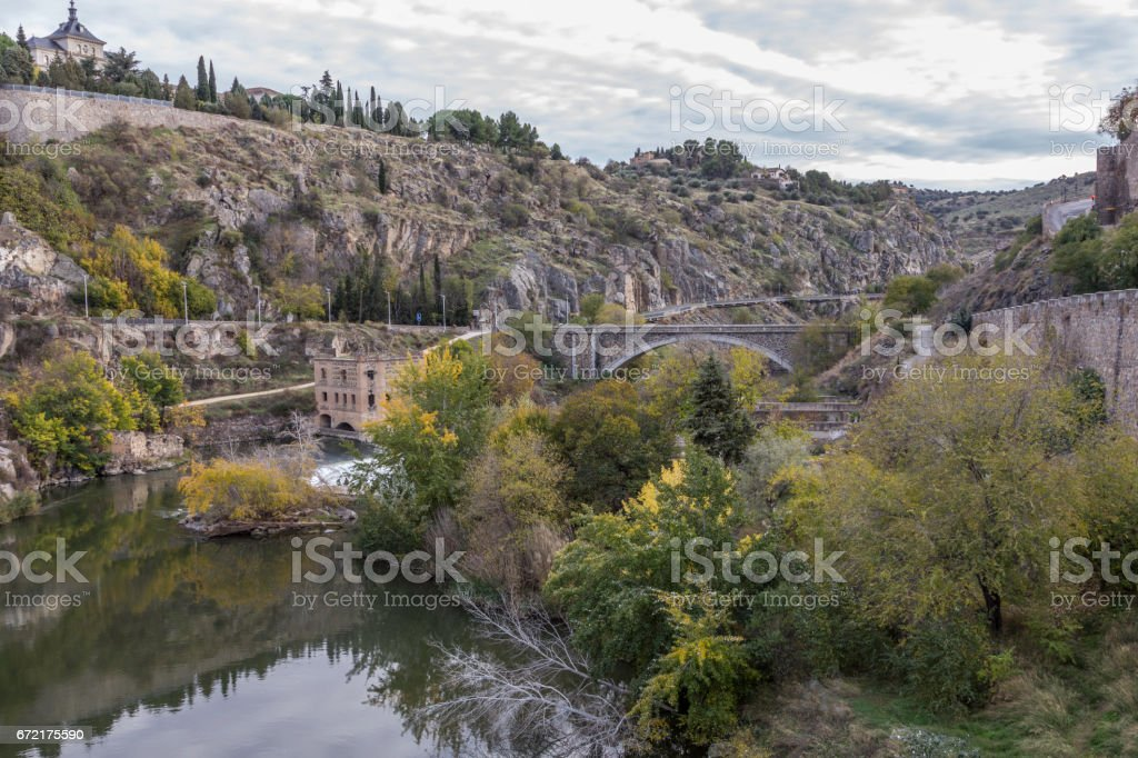 Entrance to Town of Toledo Spain stock photo