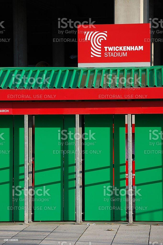 Entrance to Twickenham Stadium stock photo