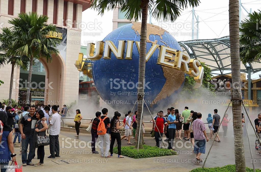 Entrance to Universal Studios Theme Park, Sentosa island Singapore stock photo