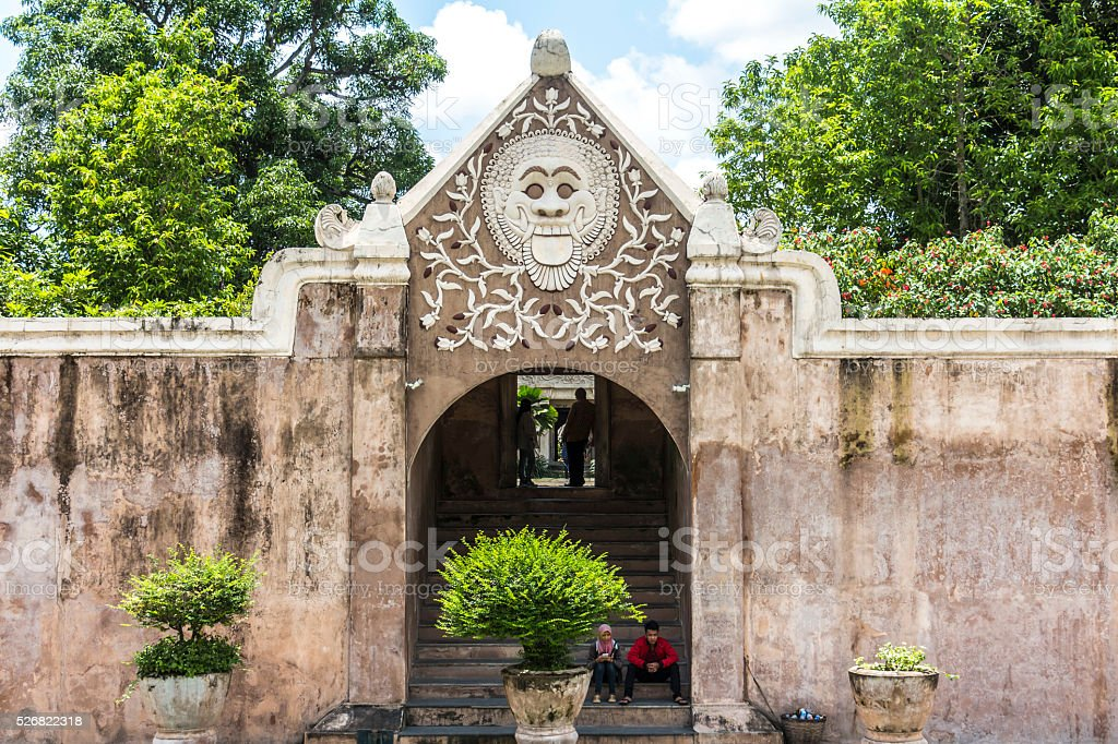 Entrance to water castle in Yogyakarta stock photo