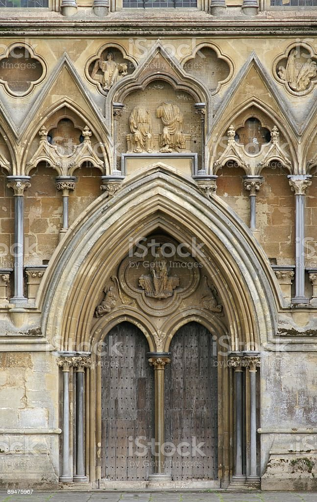 Entrance to Wells Cathedral royalty-free stock photo