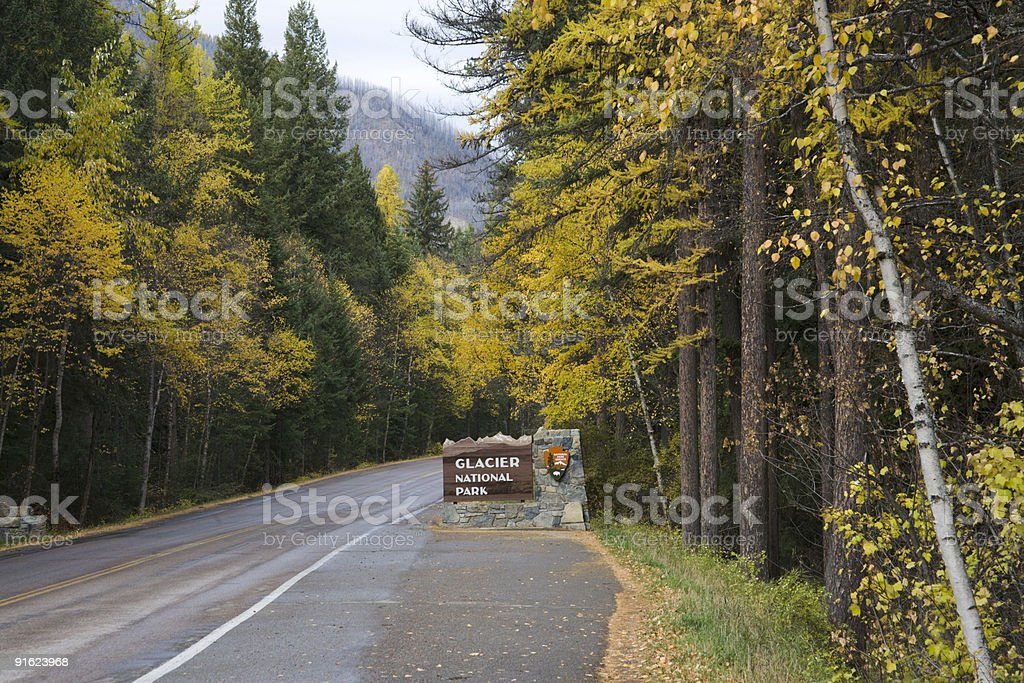 Entrance to West Glacier royalty-free stock photo