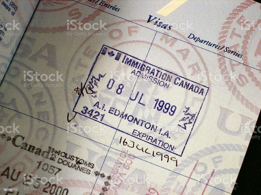 entrance visa royalty-free stock photo