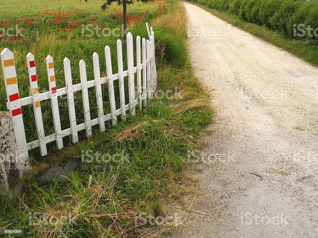 entrance with a fence royalty-free stock photo