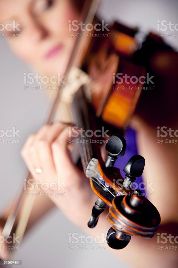 Entranced by the beauty of music stock photo