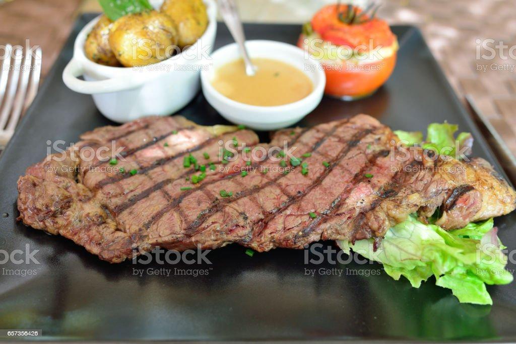 Entrecote steak stock photo