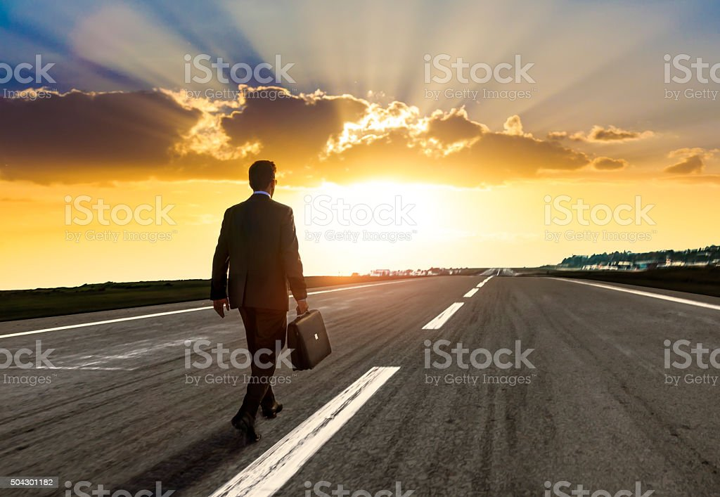 Entrepreneur walking for new opportunity stock photo