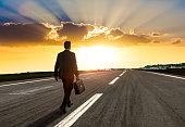 Entrepreneur walking for new opportunity