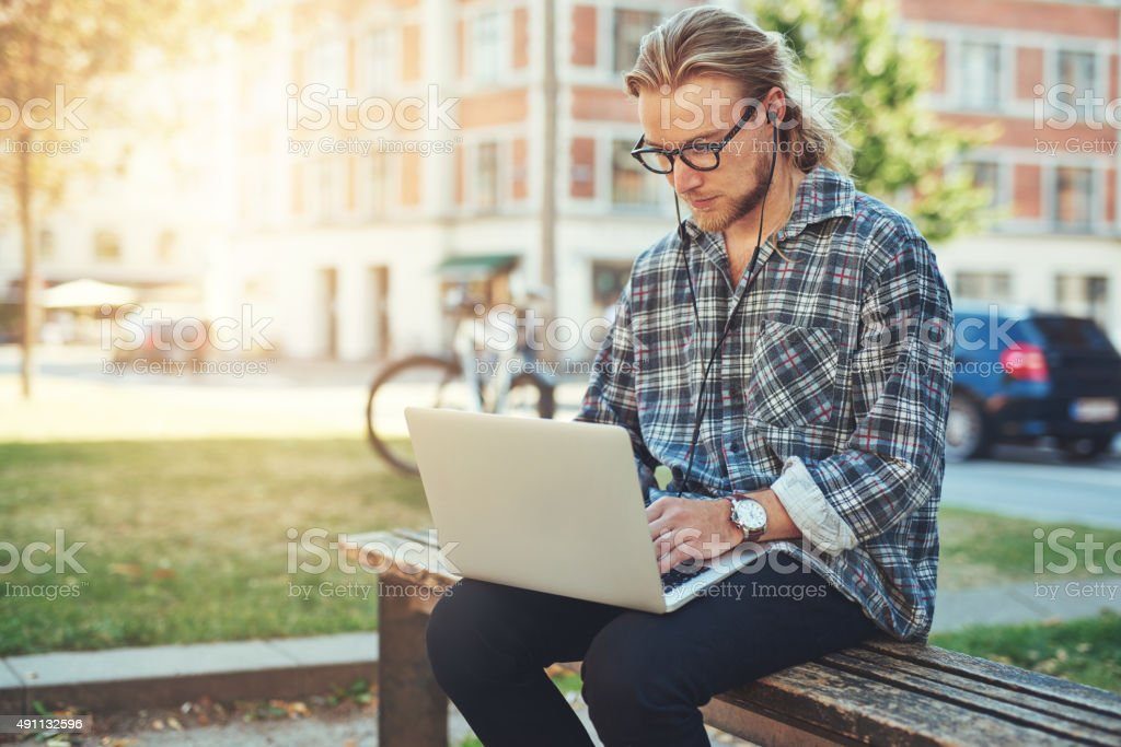 Entrepreneur working on idea stock photo