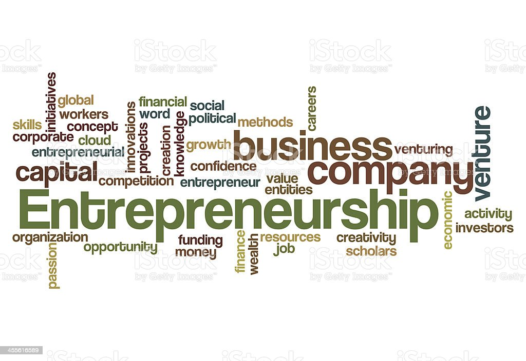 entrepreneurship word cloud concept stock photo
