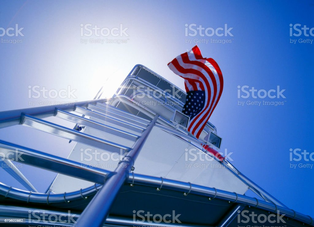 Entrées and the Star-Spangled Banner stock photo