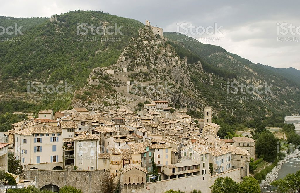 Entrevaux, France stock photo