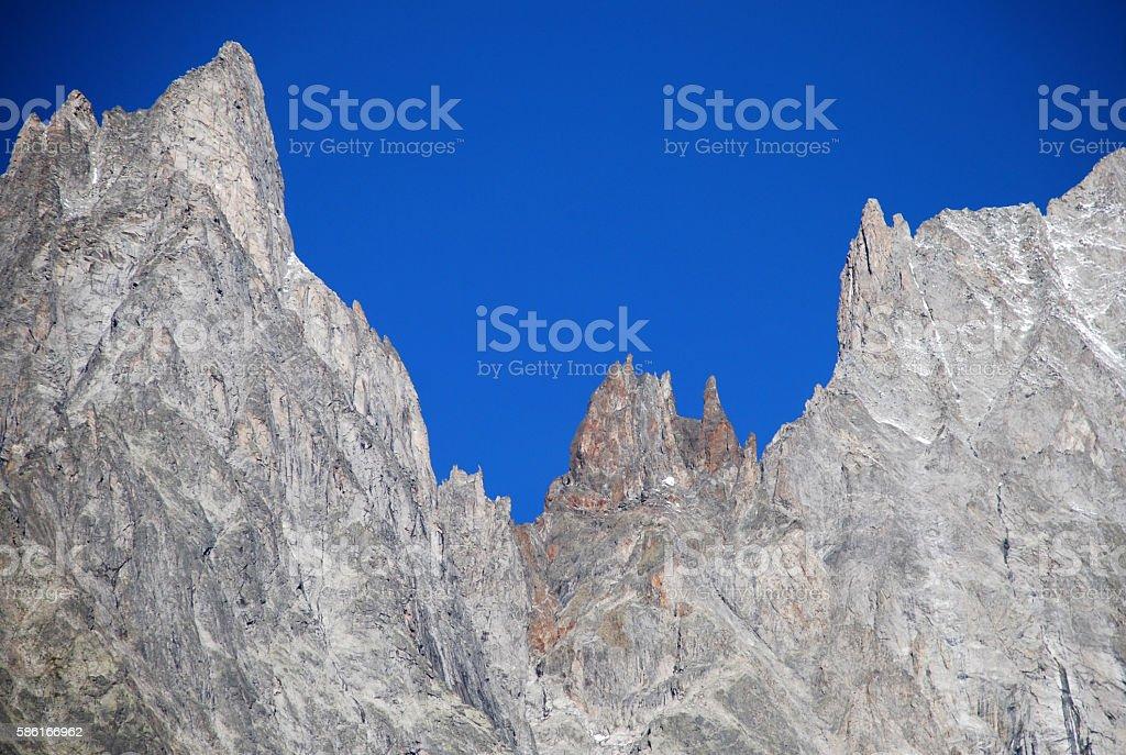 Entreves - Mont Blanc stock photo