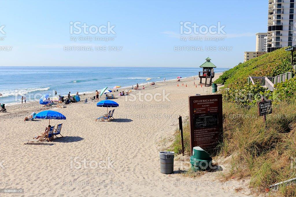 Entry Area to Boca Raton Beach stock photo