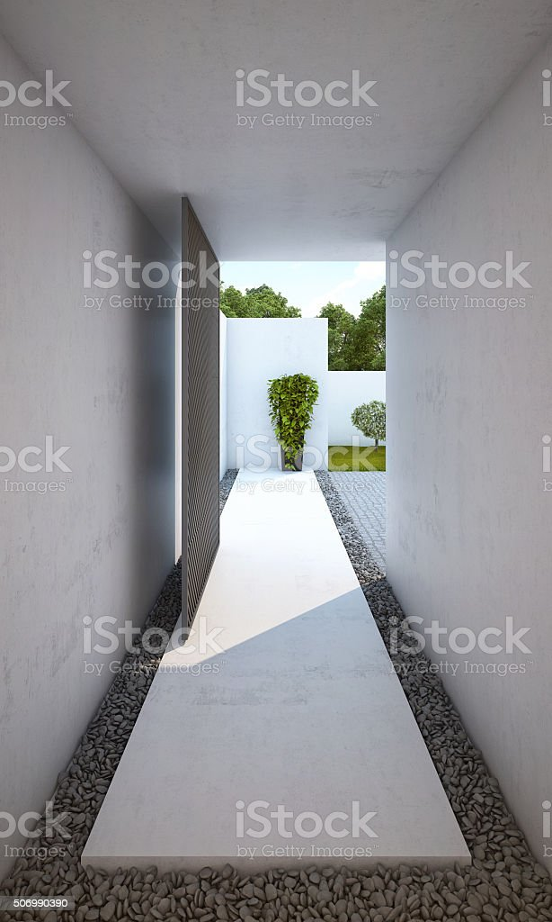 Entry Courtyard stock photo
