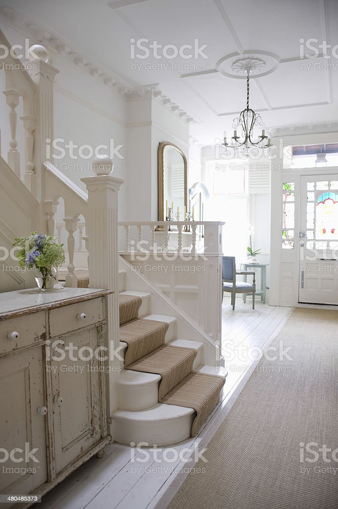 Entry Hall With Stairway stock photo