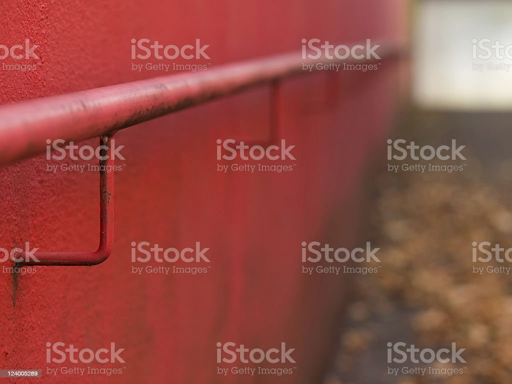 Entry in red stock photo