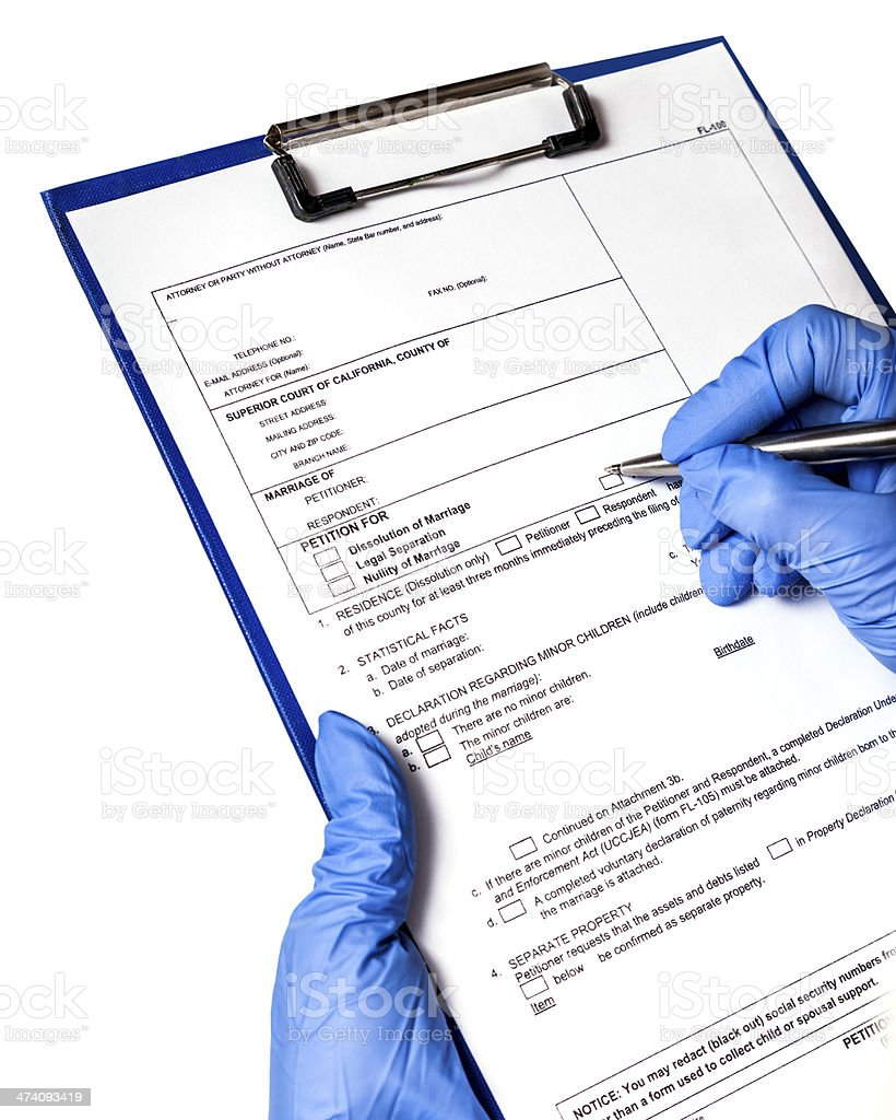 entry in the medical record stock photo