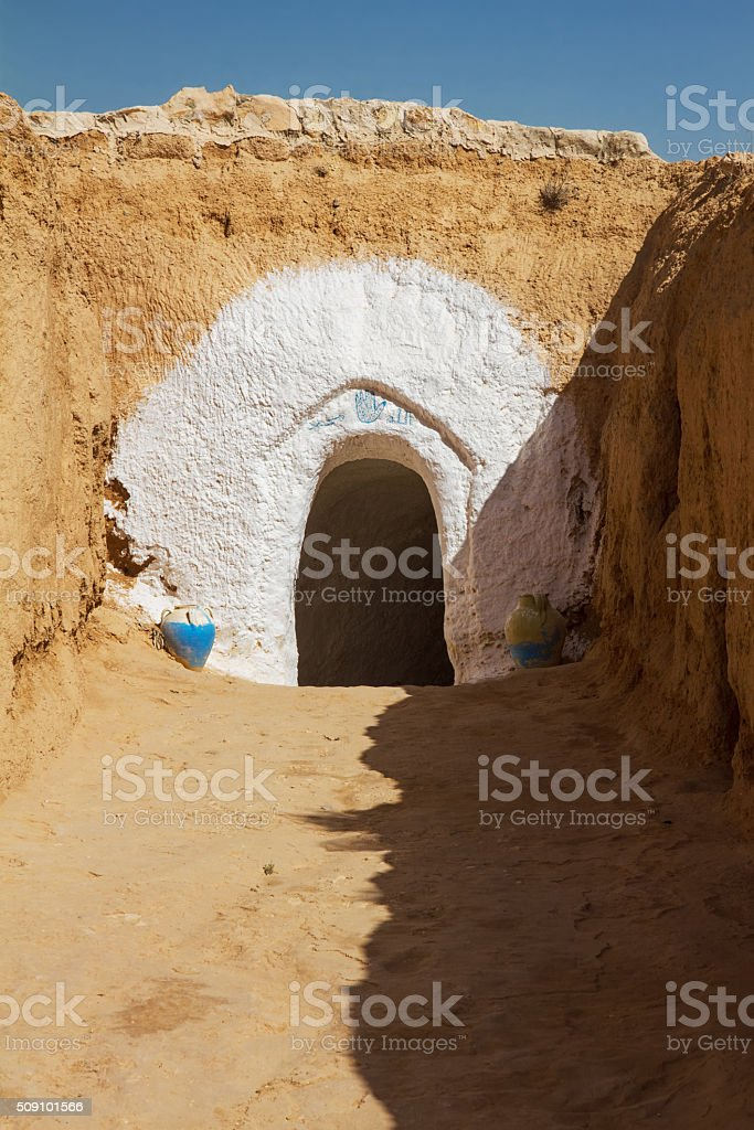 entry into dwelling Berbers stock photo
