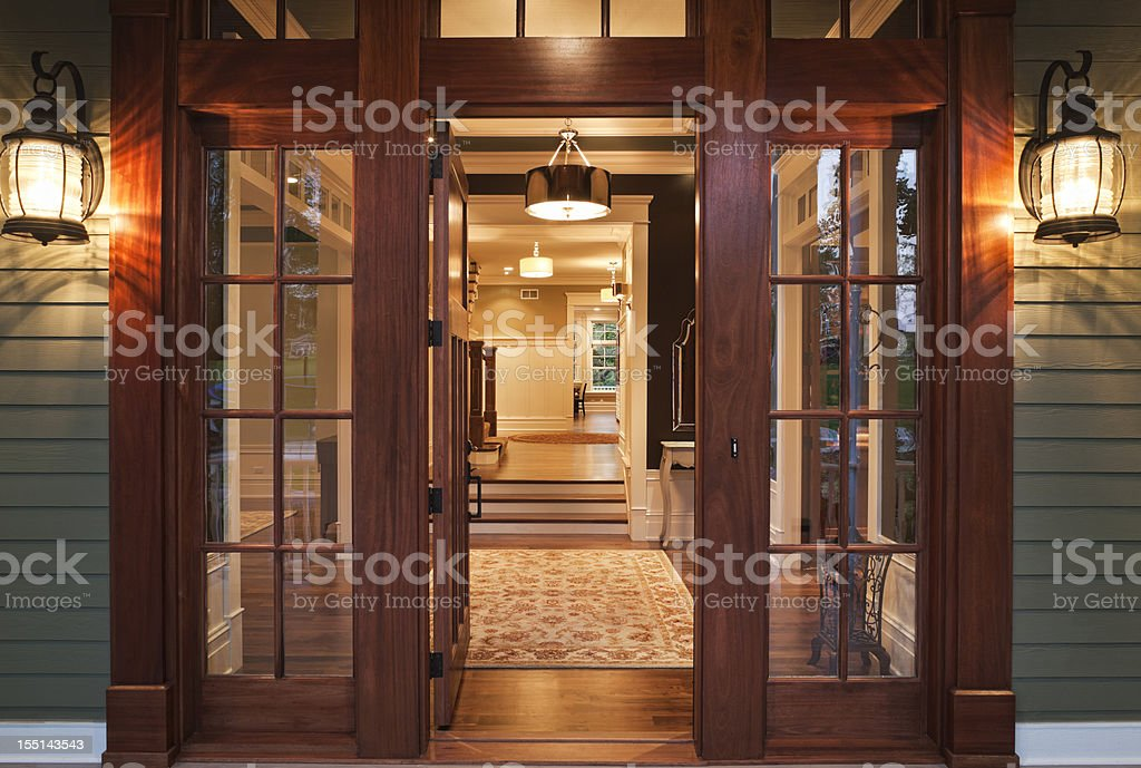 Entry into Luxurious Home stock photo
