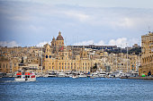 Entry into port of Valletta from the sea