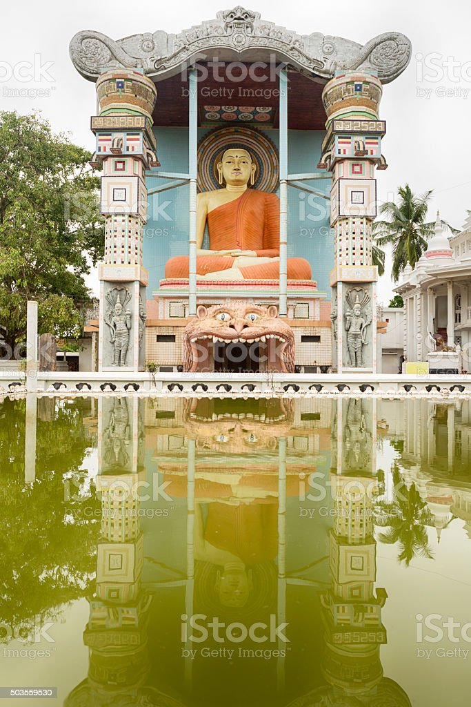 Entry of Angurukaramulla Temple, Negombo, Sri Lanka stock photo