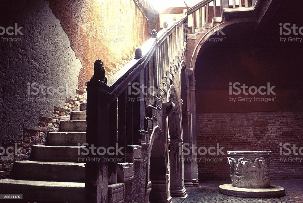 Entry Staircase, Venice, Italy stock photo