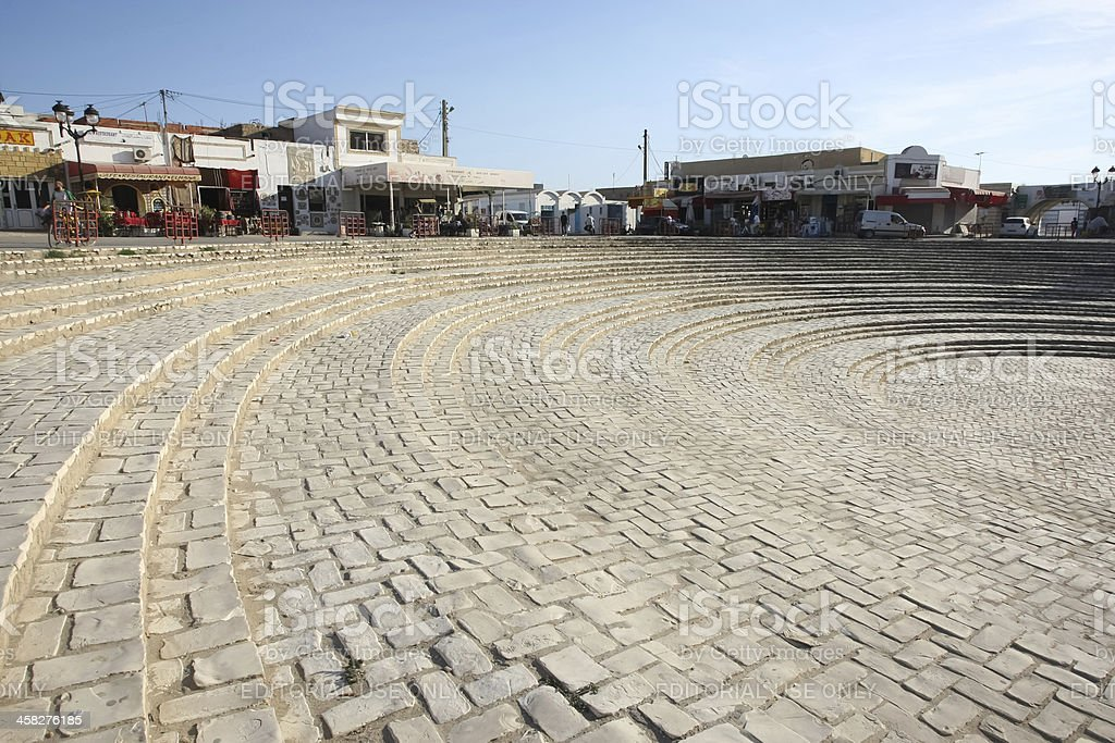 Entry steps of amphitheater in El Djem royalty-free stock photo