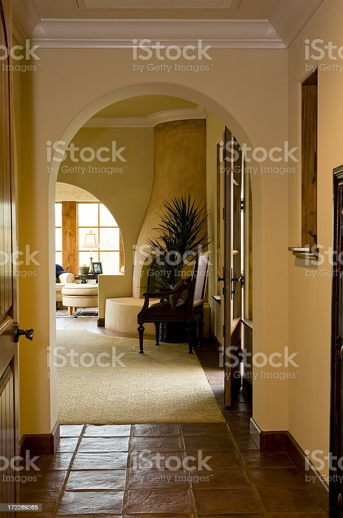 Entry  To Master Bedroom royalty-free stock photo