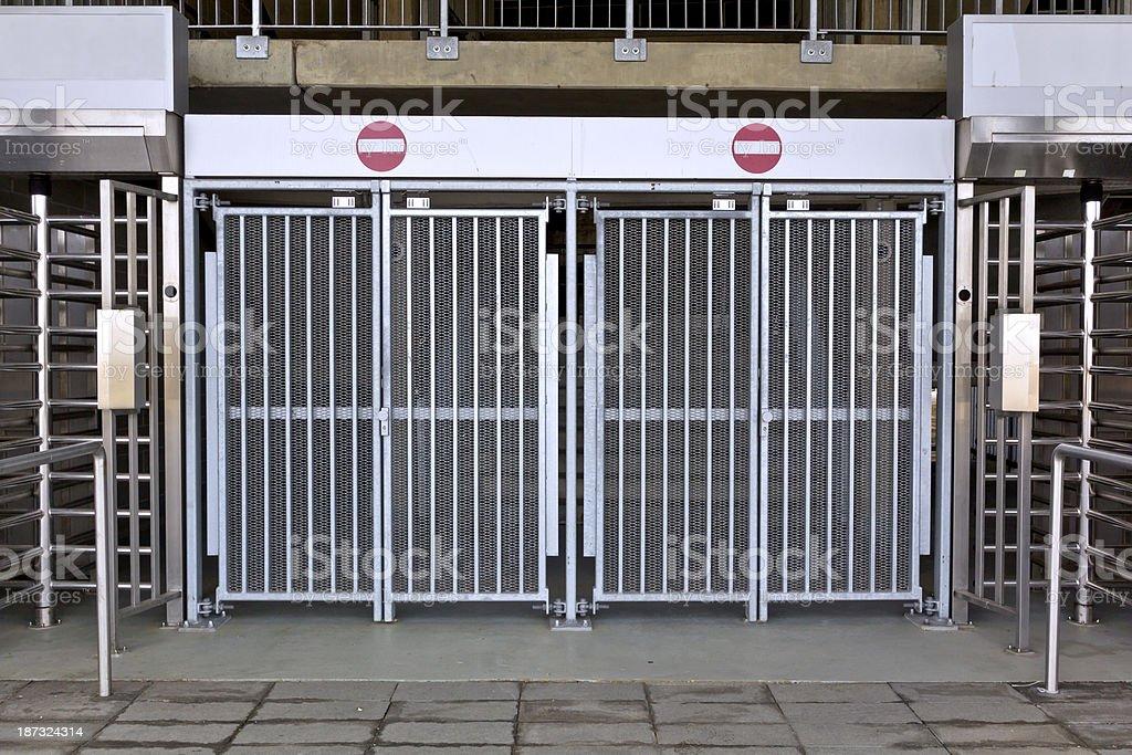 Entry to sports stadium royalty-free stock photo