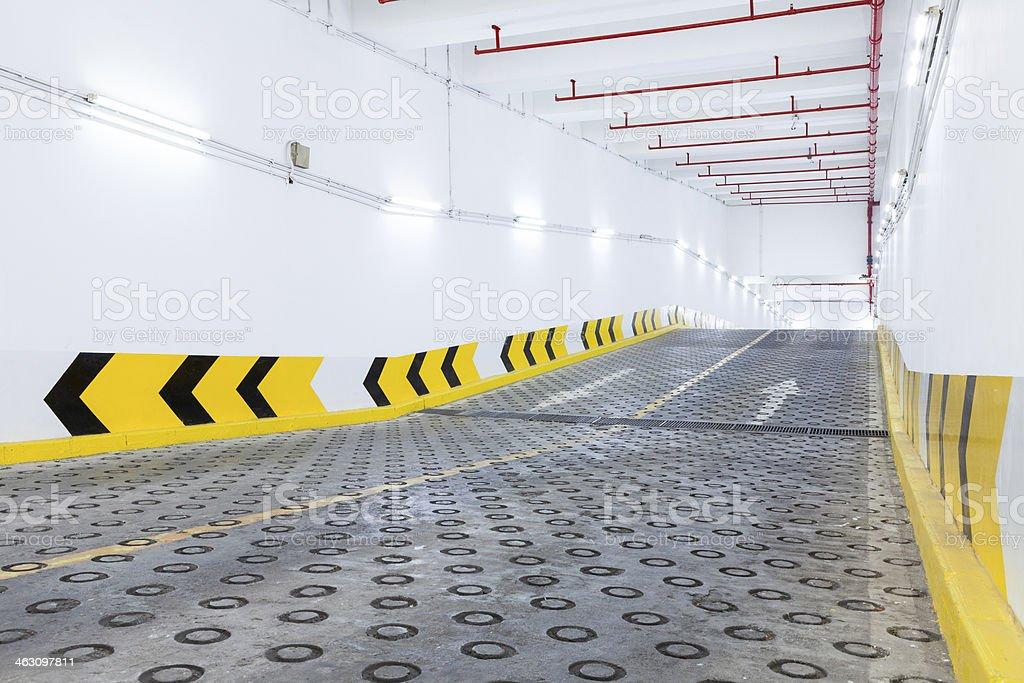 Entry underground parking royalty-free stock photo