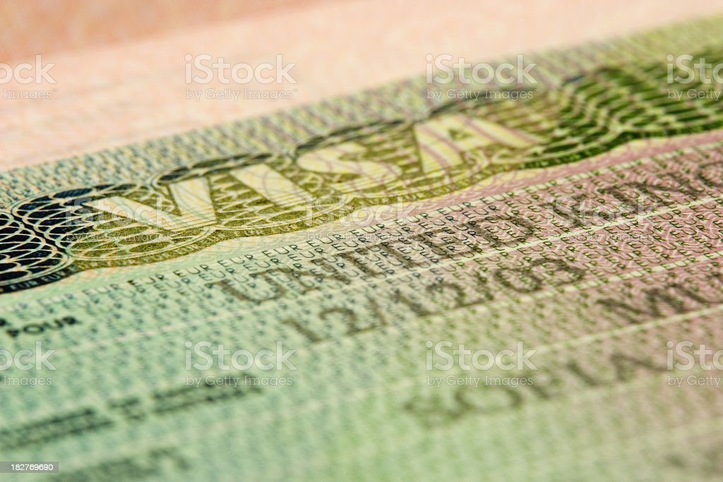 UK Entry Visa: Close Up royalty-free stock photo