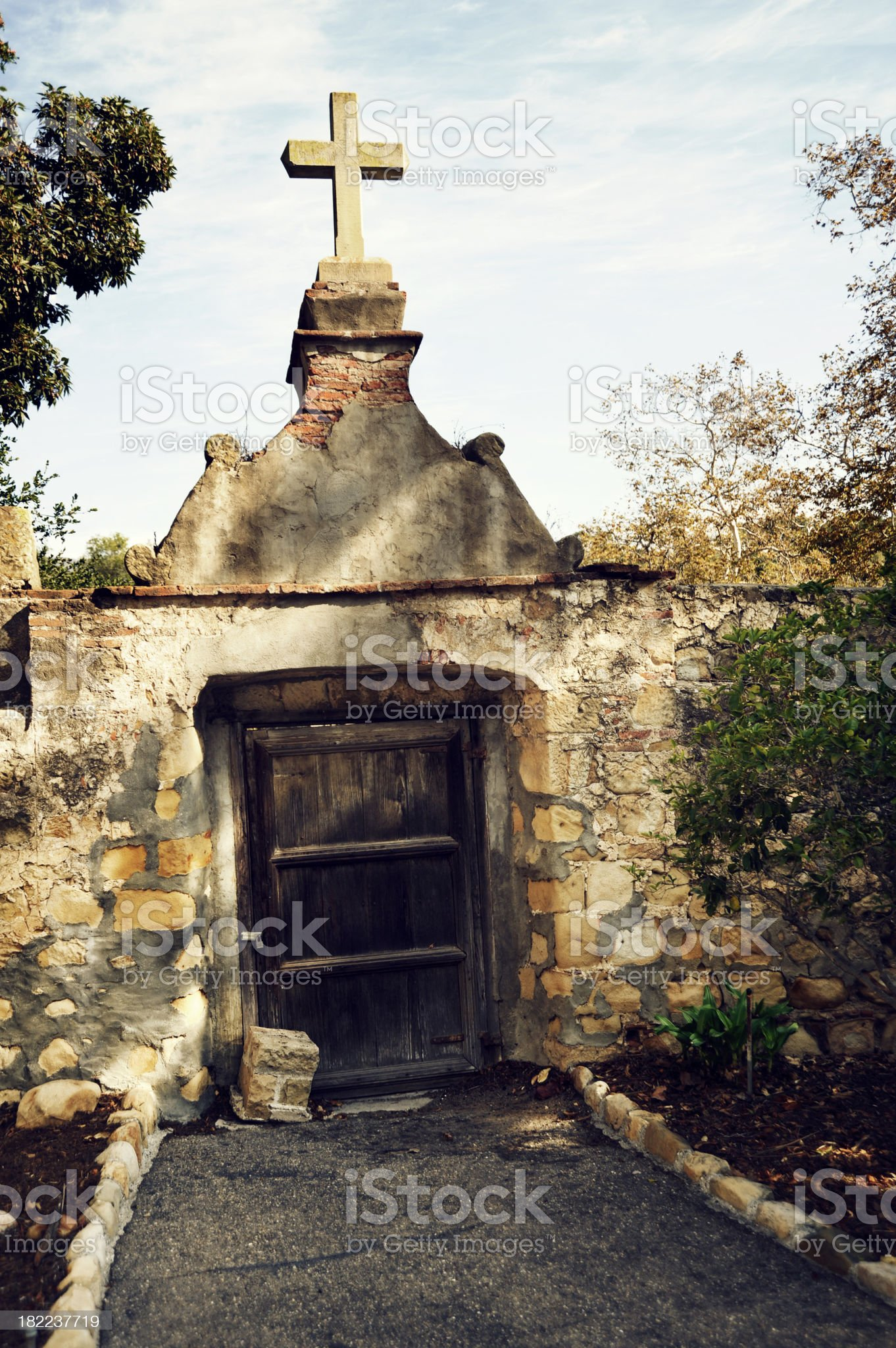 Entry with Cross royalty-free stock photo