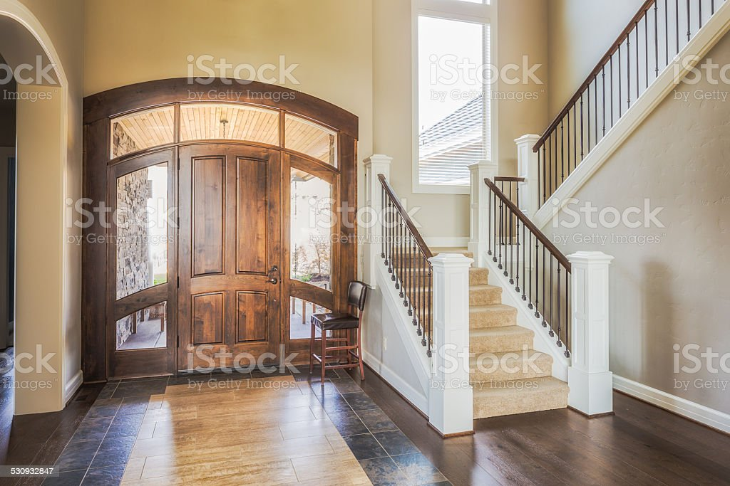 Entryway in New Home stock photo