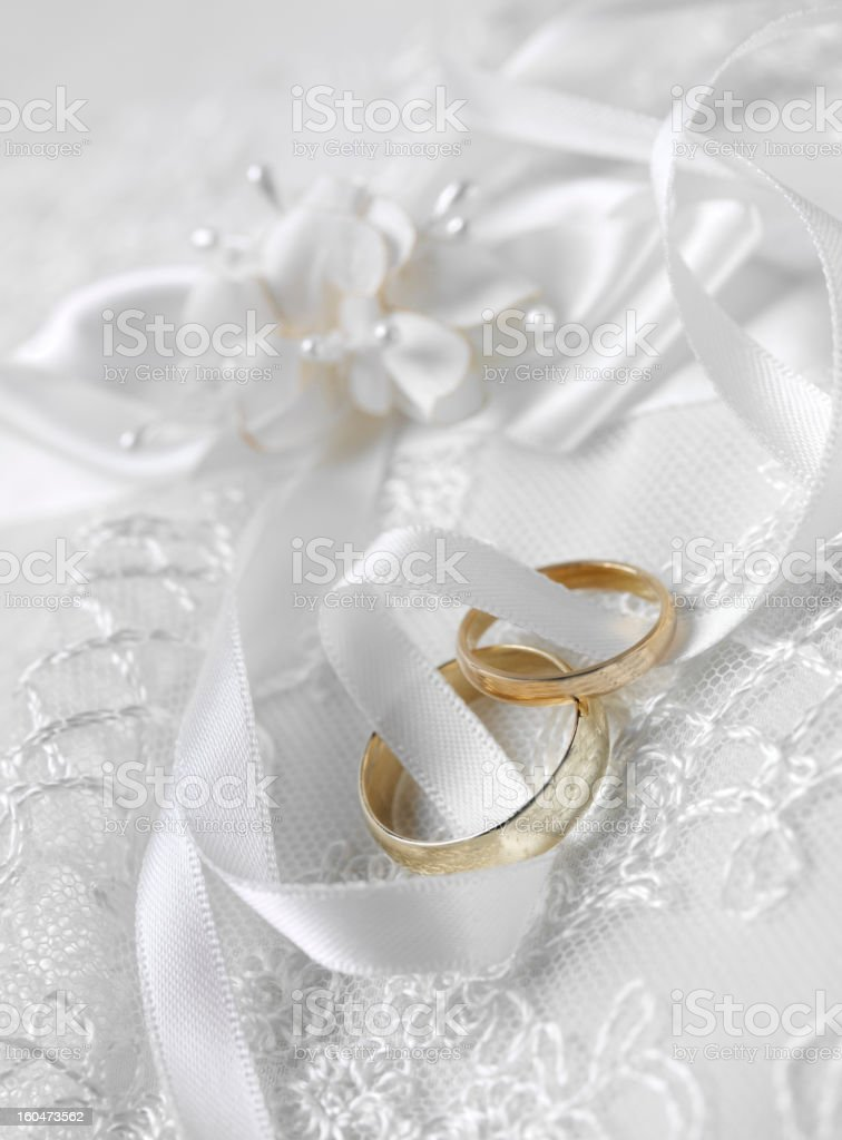 Entwined wedding Rings royalty-free stock photo