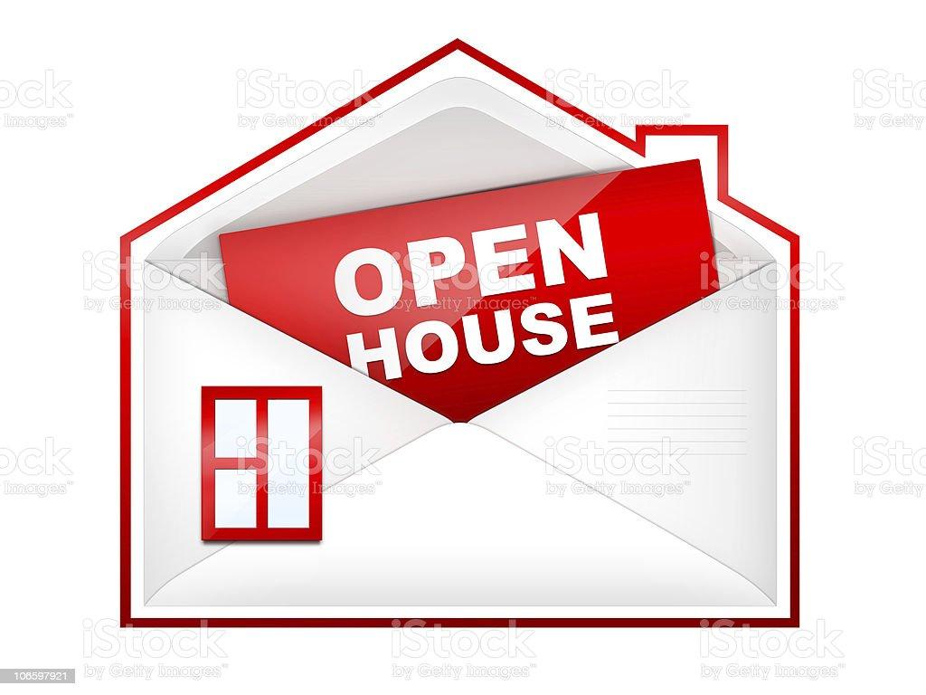 Envelop - Open House royalty-free stock photo