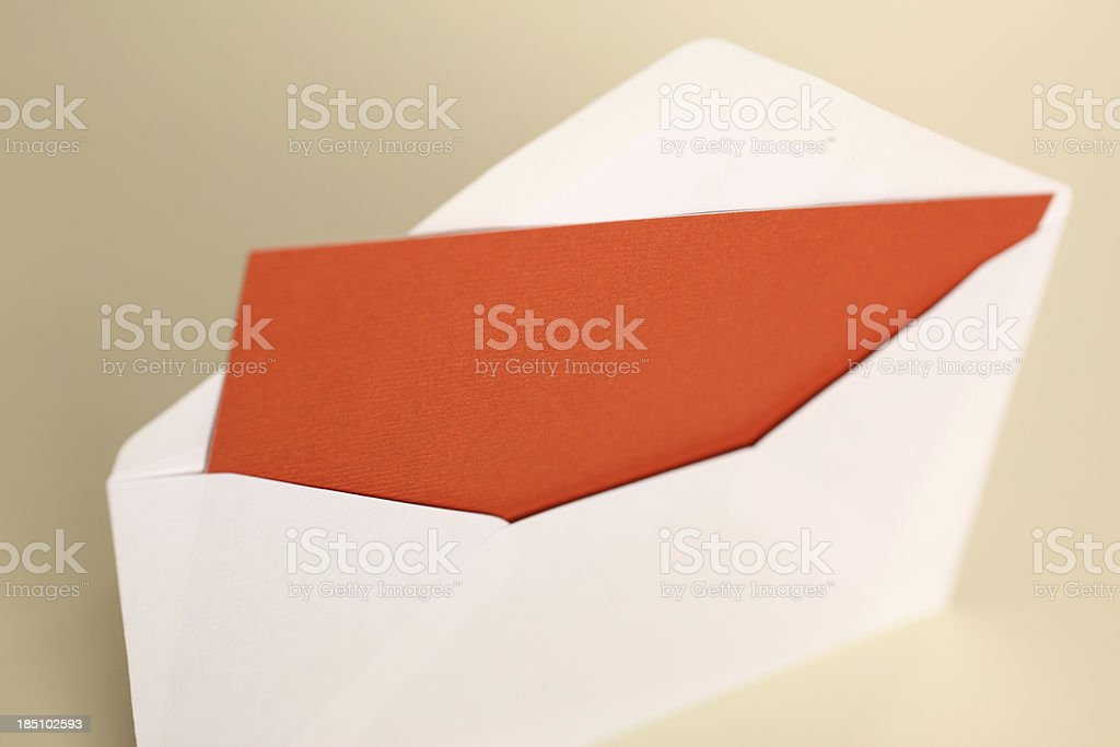 Envelop with Blank Note stock photo