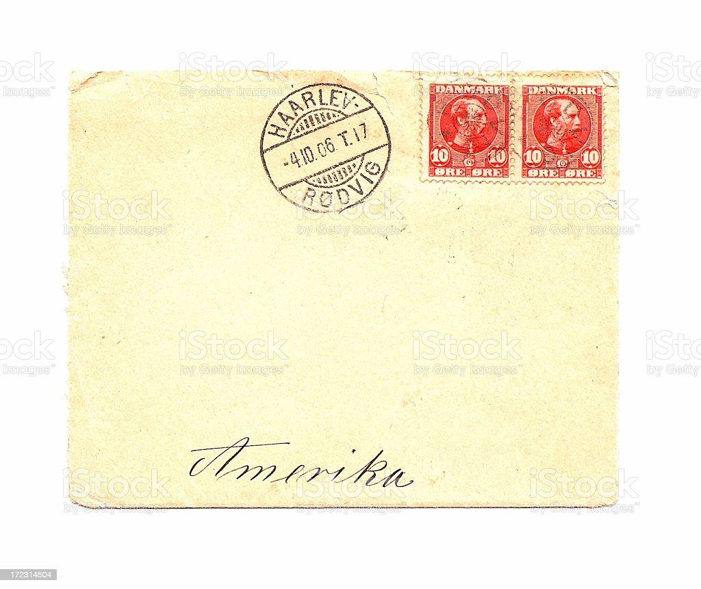 Envelope 1906 stock photo
