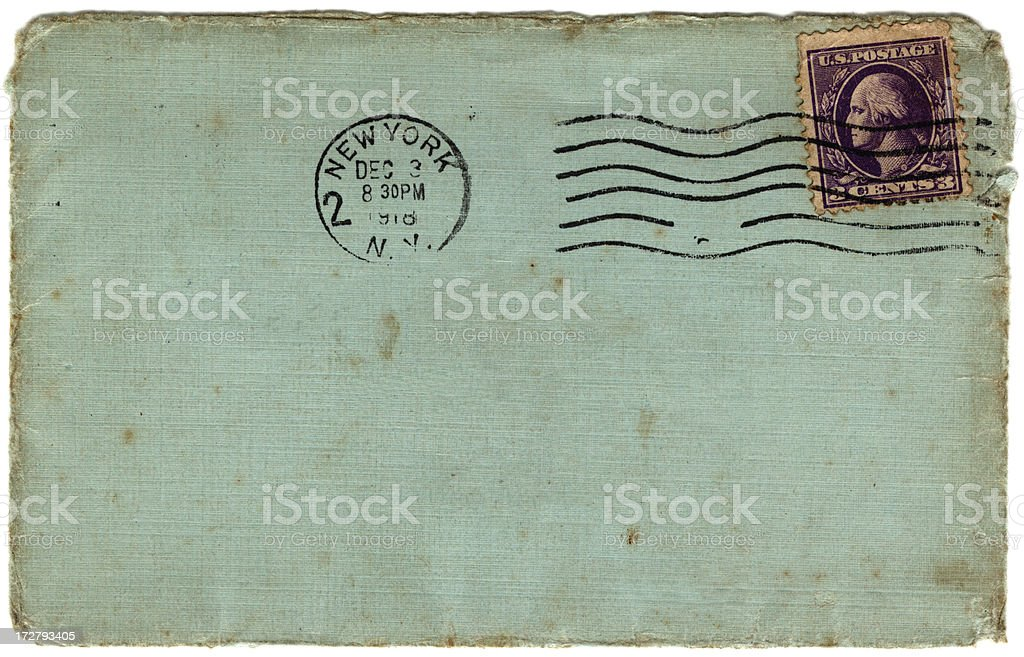 USA envelope 1918 stock photo