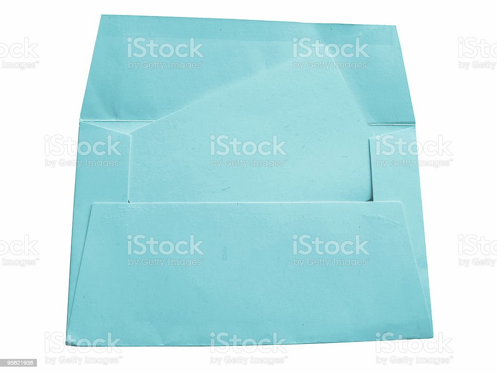 envelope and card - blue stock photo