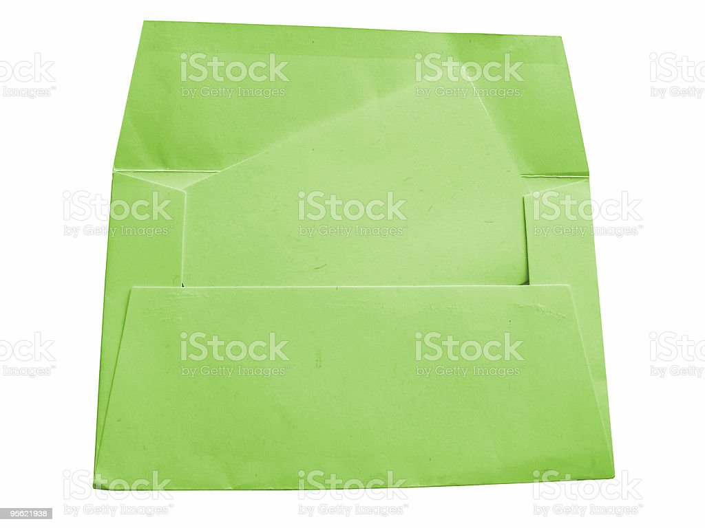 envelope and card - green stock photo
