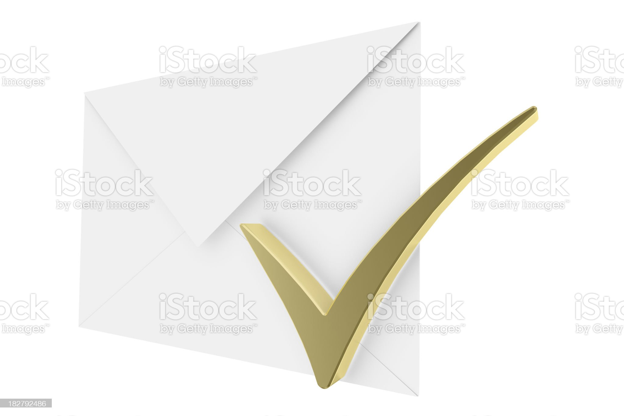 Envelope and Check Mark royalty-free stock photo