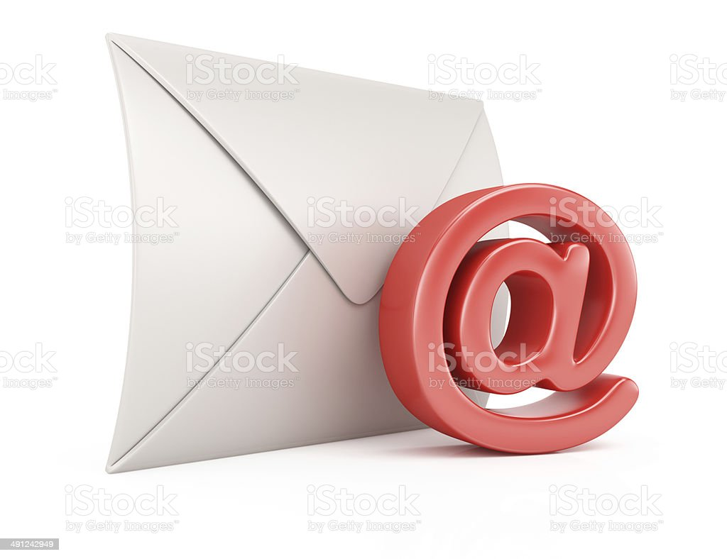 Envelope and email symbol royalty-free stock photo