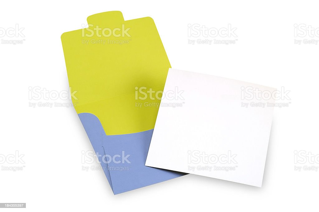 Envelope and invitation royalty-free stock photo