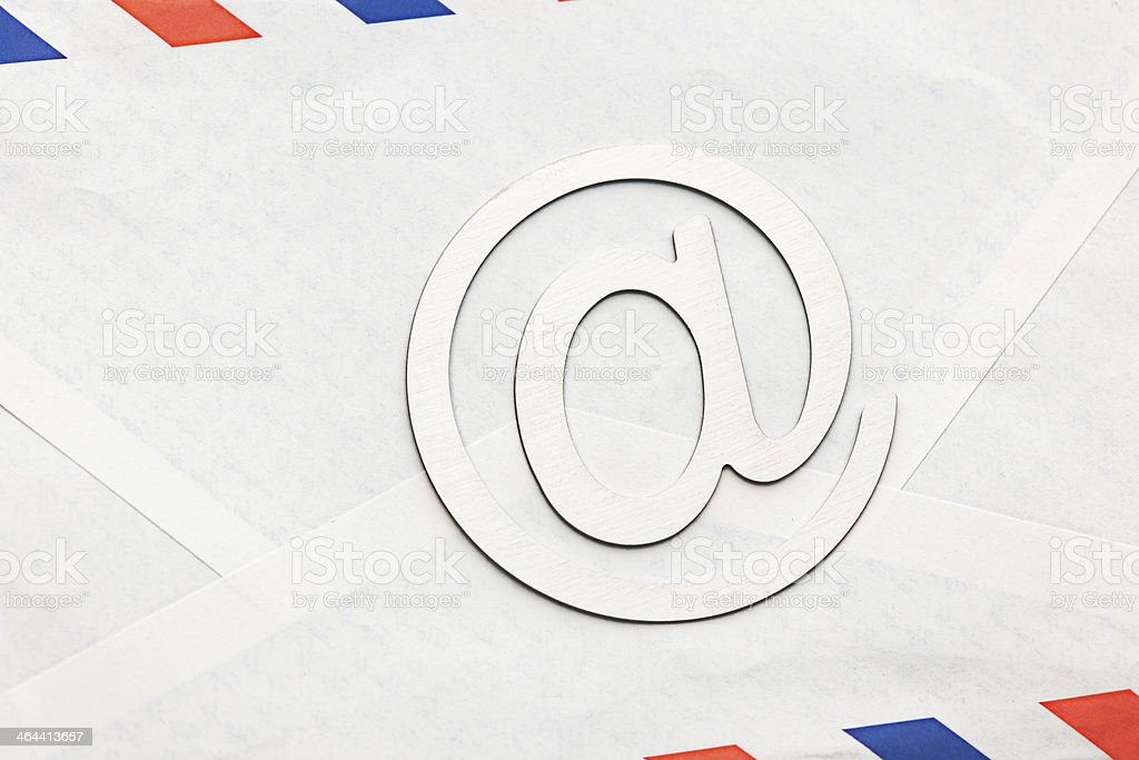 Envelope and mail symbol stock photo