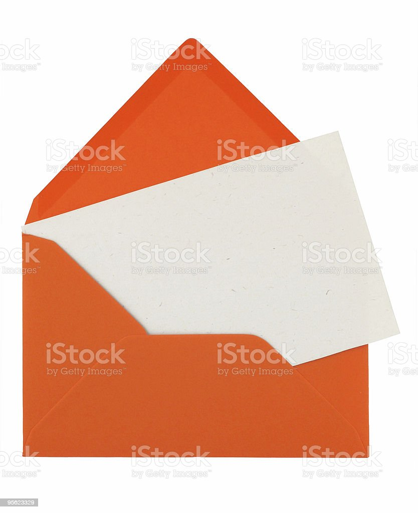 envelope and note royalty-free stock photo