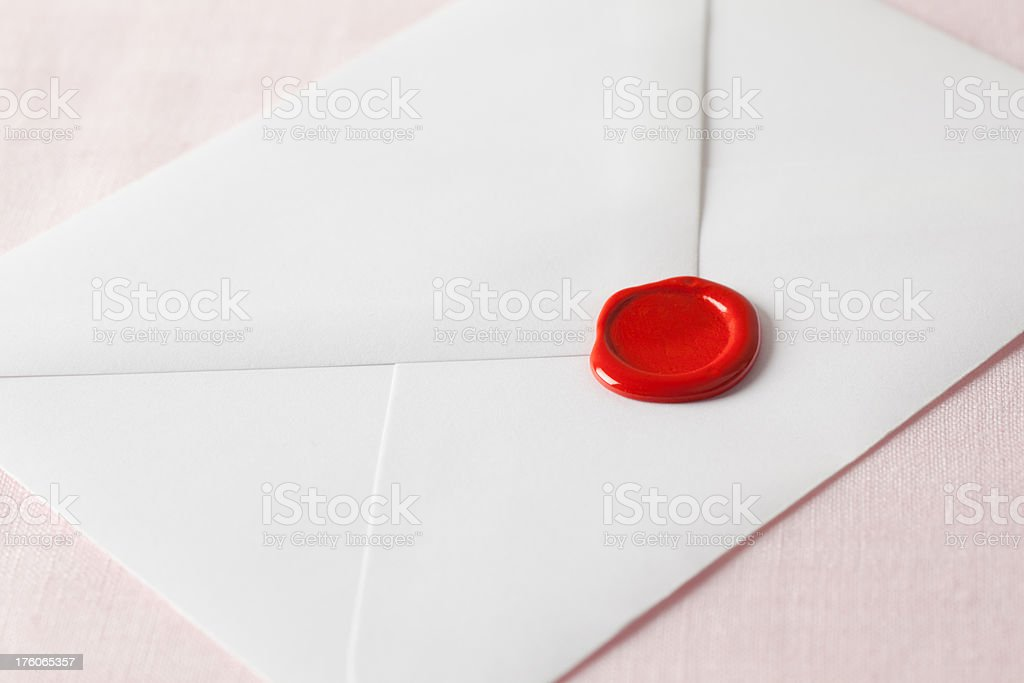 Envelope and seal stock photo
