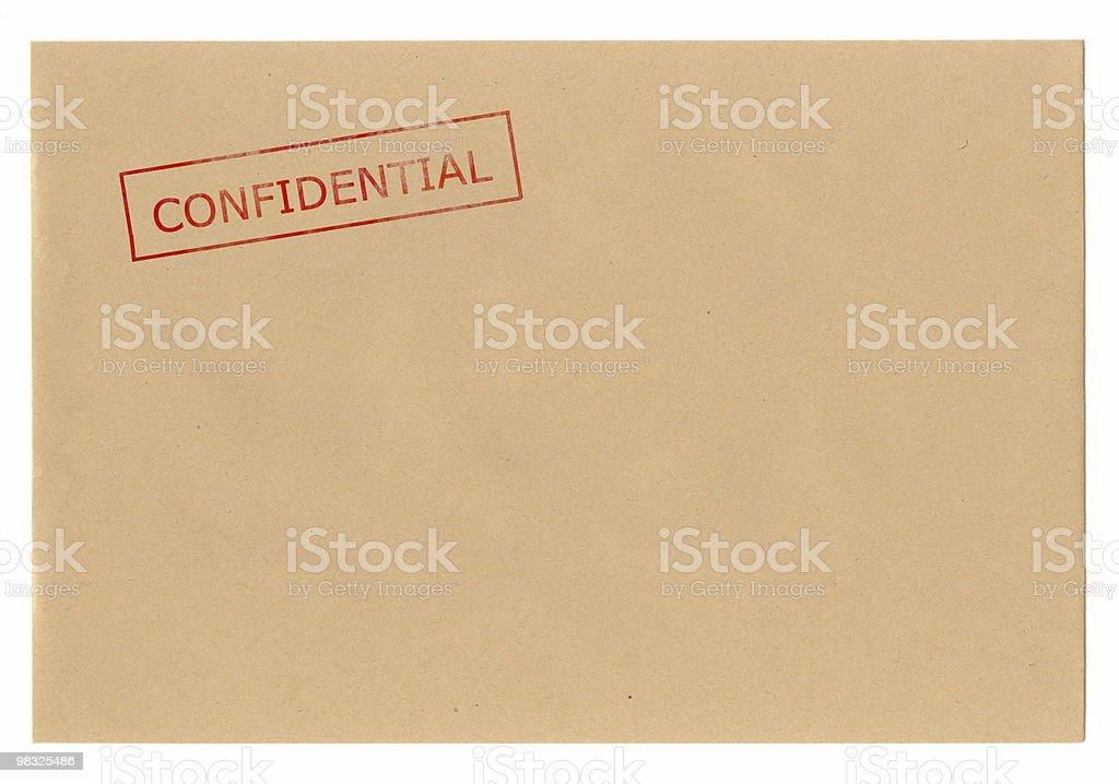 Envelope Confidential royalty-free stock photo