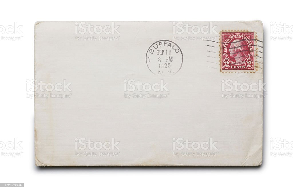 Envelope From 1920's royalty-free stock photo